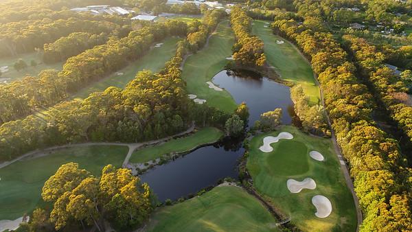 Terrey Hills Golf & Country Club (Aerial), New South Wales, Australia