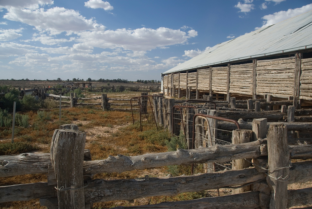 Sheep shearing shed, Mungo National Park, Australia