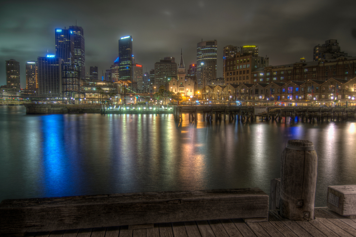 Sydney Harbor at Night, NSW, Australia