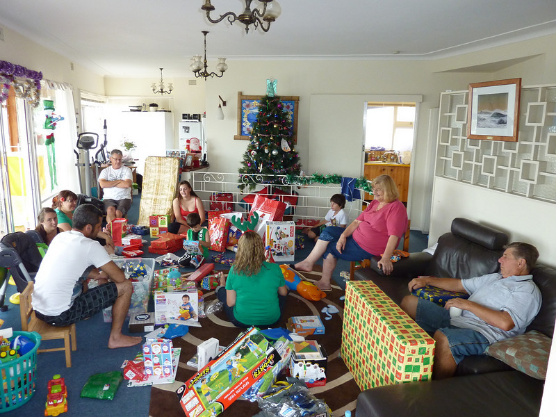Opening the presents