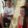 Lara with her dad david