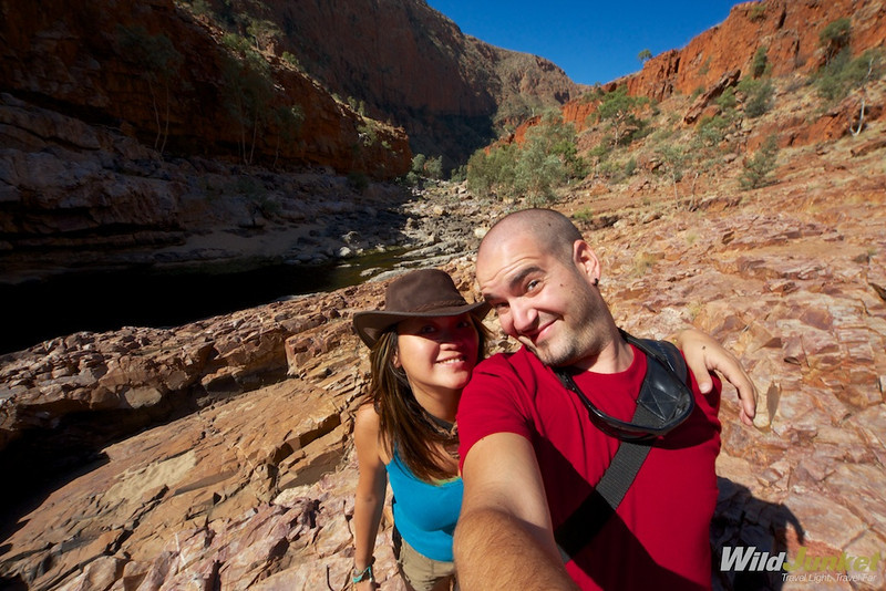 Us in Ormiston Gorge