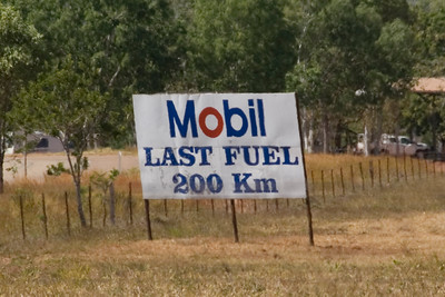 Last Fuel Sign, Gregory National Park - Northern Territory, Australia