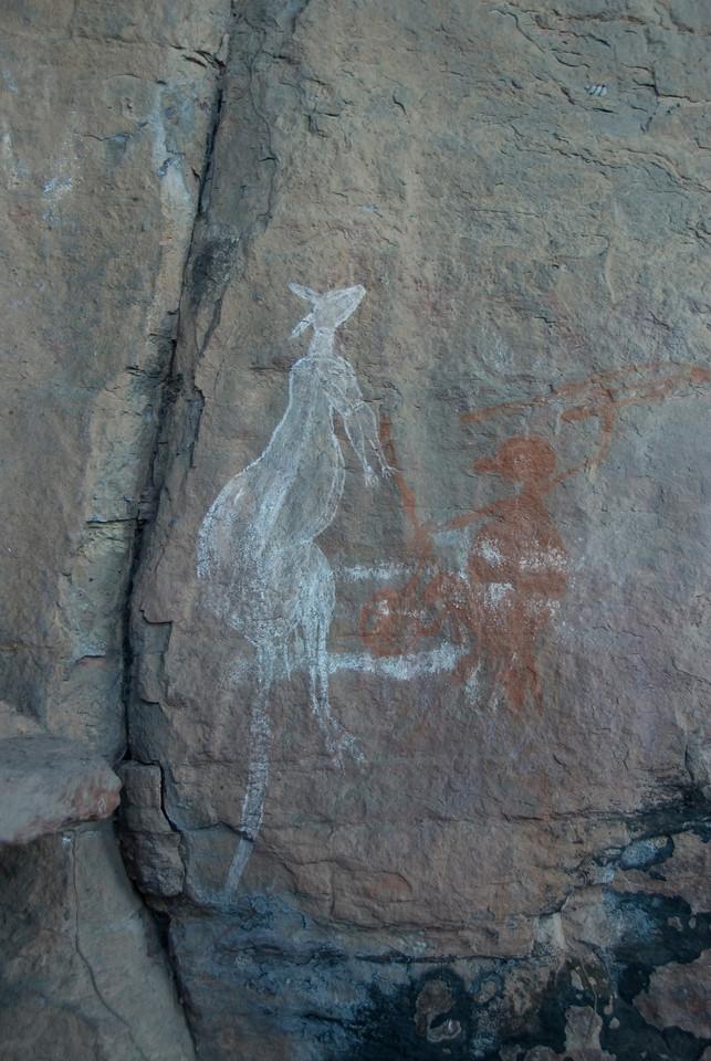 Kangaroo Rock Art 2, Anbangbang, Kakadu National Park - Northern Territory, Australia