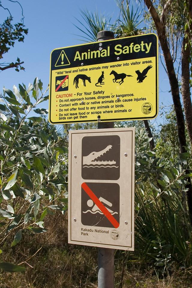 Crocodile Sign 1, Kakadu National Park - Northern Territory, Australia