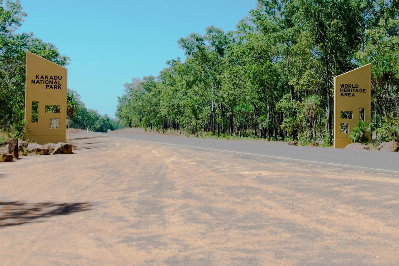 Entrance Sign, Kakadu National Park - Northern Territory, Australia