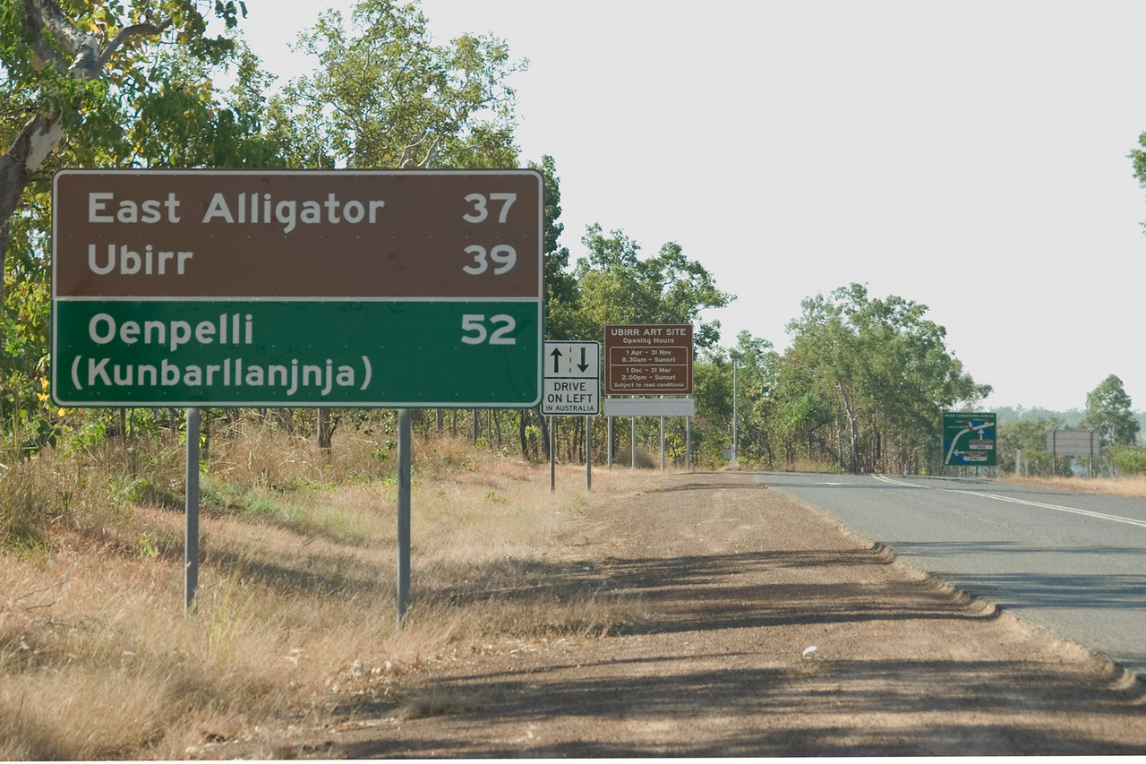 Road-Signs, Kakadu National Park - Territory, Australia