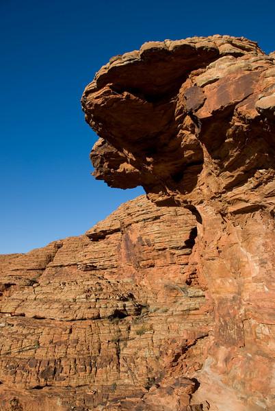 Rock Overhang, Kings Canyon - Northern Territory, Australia