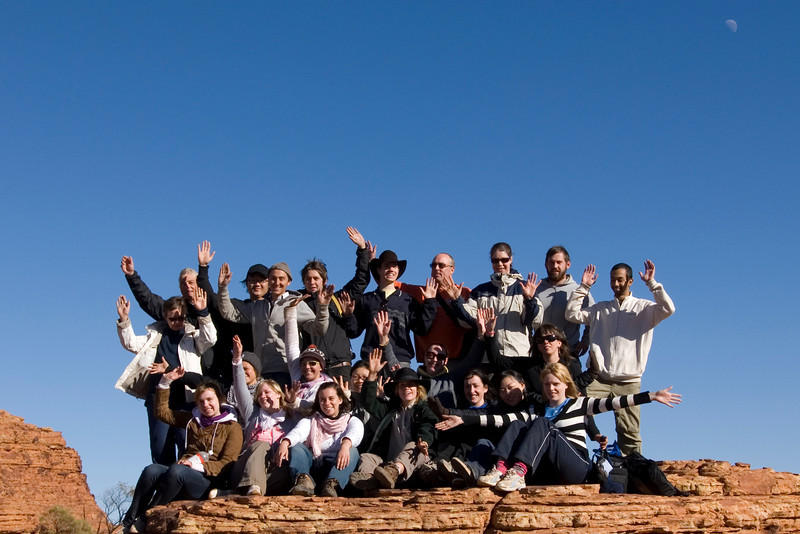Group Photo Kings Canyon - Northern Territory, Australia