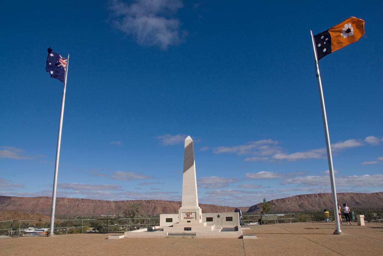 War Memorial, ANZAC Hill, Alice Springs - Northern Territory, Australia