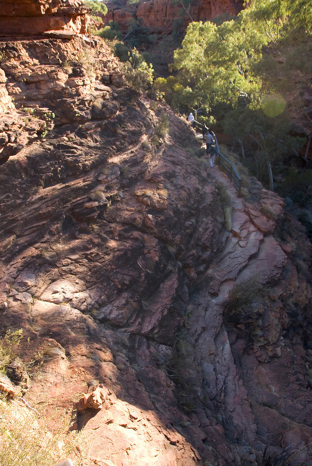 Looking Down Kings Canyon - Northern Territory, Australia