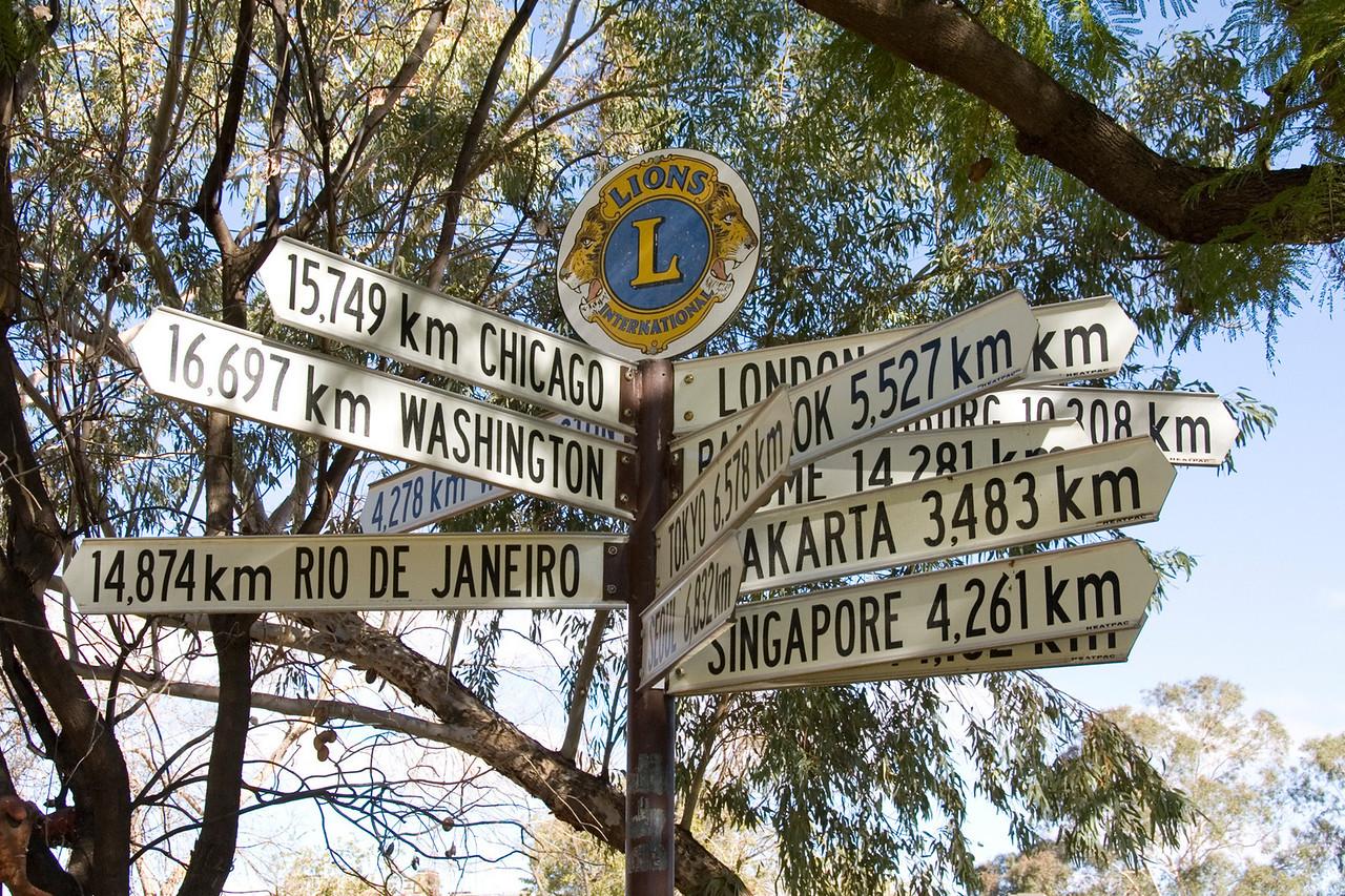Alice Springs Mile Sign 1 - Northern Territory, Australia
