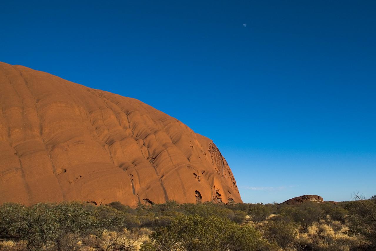 Uluru and Moon 2 - Northern Territory, Australia