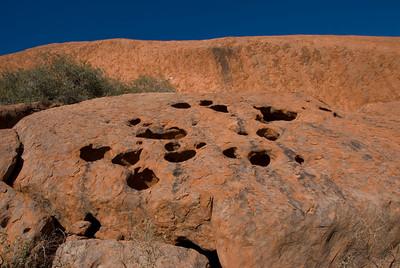 Erosional Holes Uluru - Northern Territory, Australia