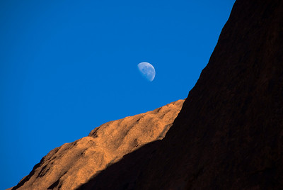 Uluru and Moon 4 - Northern Territory, Australia