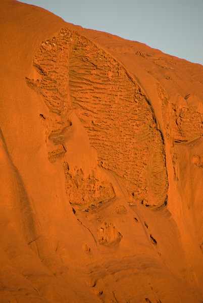 Uluru Erosion Close Up Sunrise - Northern Territory, Australia
