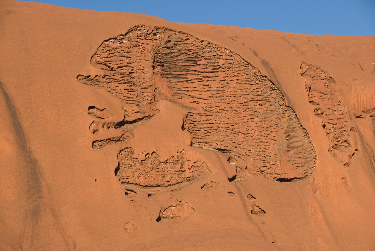 Uluru Erosional Formation Close Up - Northern Territory, Australia
