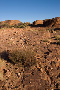Rocks on Top of Rim, Kings Canyon - Northern Territory, Australia