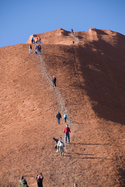 Uluru Climbers 2 - Northern Territory, Australia