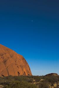 Uluru and Moon 1 - Northern Territory, Australia