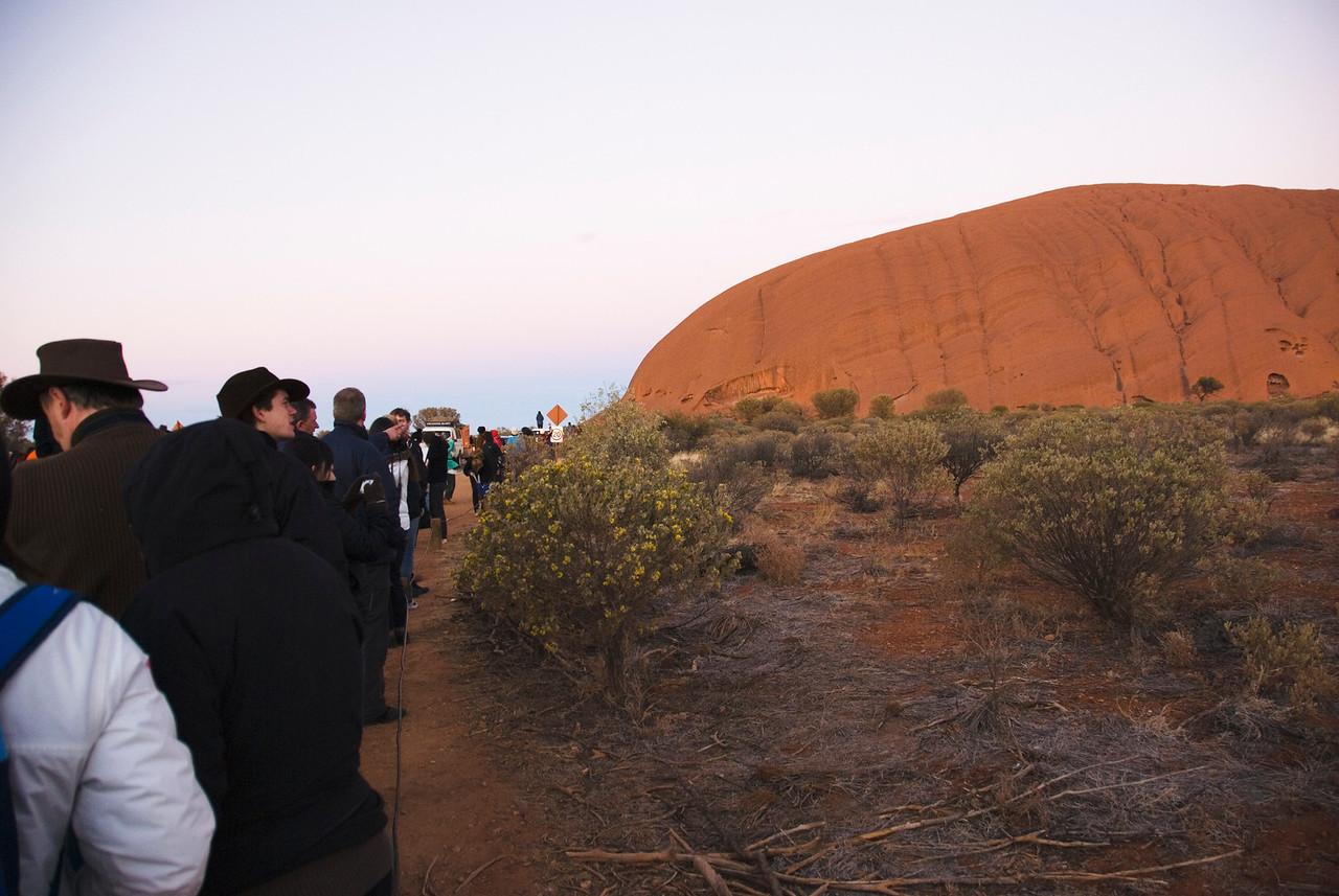 Watching Sunrise at Uluru - Northern Territory, Australia