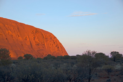 End of Uluru at Sunrise - Northern Territory, Australia