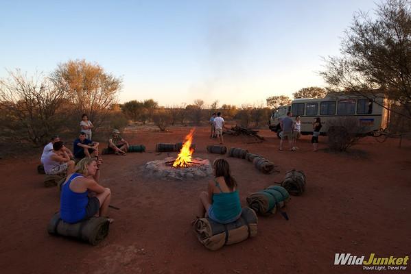 Camping in Uluru