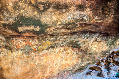Rock art in Uluru Natinal Park, Northern Territory, Australia