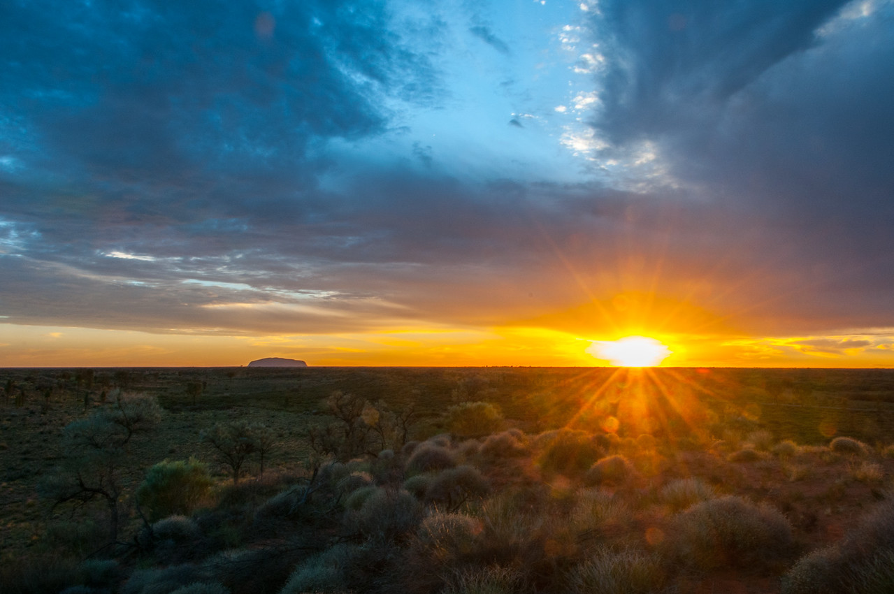 Sunset in Uluru National Park, Australia