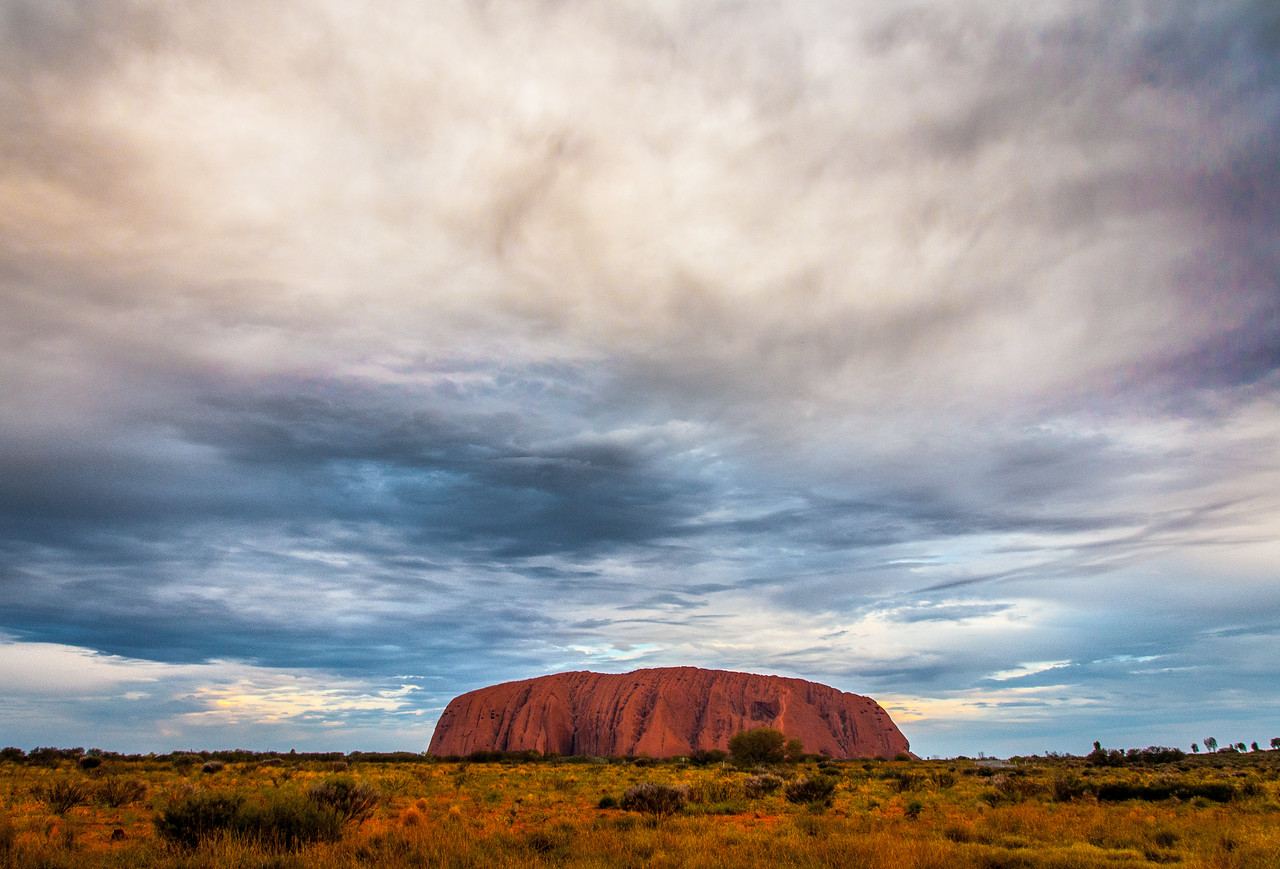 Panorama of Uluru National Park in Northern Territory, Australia