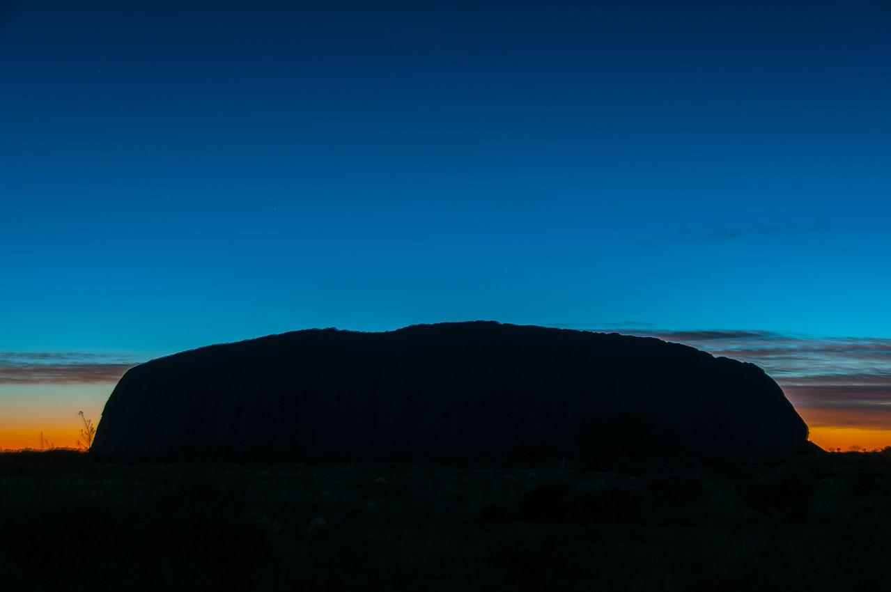 Sunset in Uluru National Park, Australia