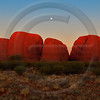 AUOU13 The Olgas and Rising Moon at Sunset