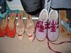 Footwear, also stolen from mum's wardrobe.