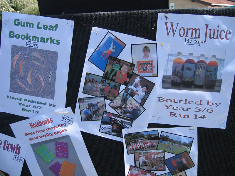 How Aussie can you get? Worm juice and gum leaf book marks...