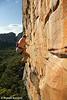 Neil Monteith Whips Off Mirage (27) #1, Taipan Wall. Grampians, Victoria, Australia