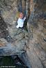 Bradley Woods on Spellbinder (17), Arapiles, Victoria, Australia