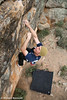 "Bradley Woods bouldering on the ""Elephant Boulder"" at Mt Arapiles, Victoria, Australia"