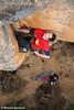 Adam Demmert on the crack start during the FFA of Insha'Allah (27), Red Rocks, Grampians, Victoria, Australia
