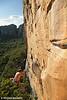 Neil Monteith Whips Off Mirage (27) #2, Taipan Wall. Grampians, Victoria, Australia