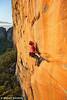 Will Monks Launches on Mirage (27), Taipan Wall, Grampians, Victoria, Australia