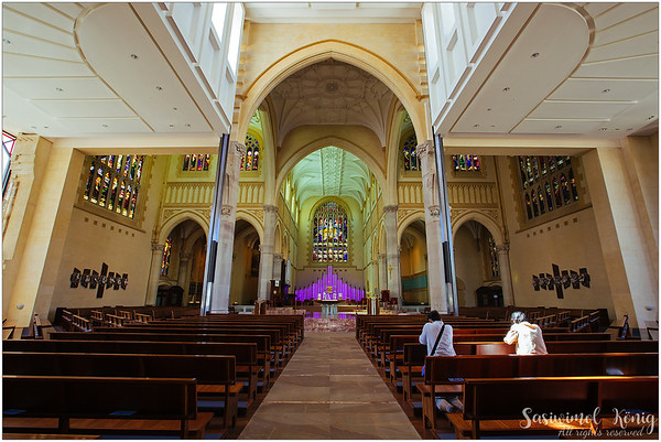 The interior of Saint Mary's Cathedral