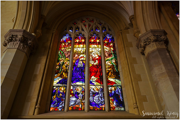 Beautiful stained glass at St. Mary's Cathedral