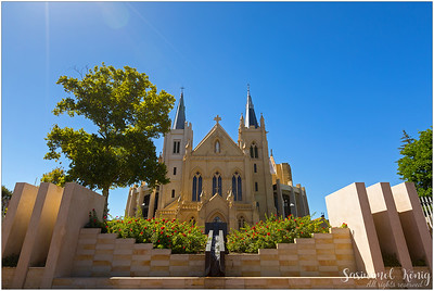 The exterior of Saint Mary's Cathedral, Victoria Square, Perth