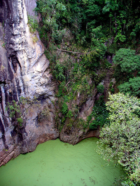 The Mt. Hypipamee Crater on the Atherton Tablelands.