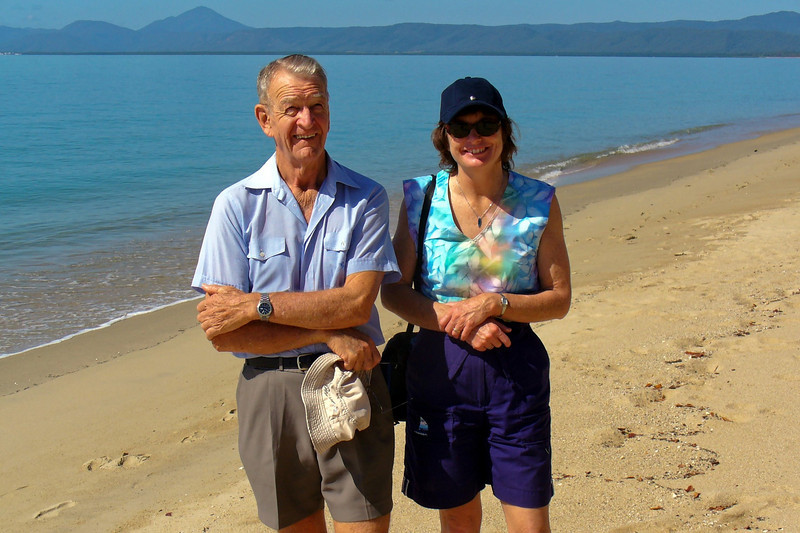 Bill and Robyn at one of the beaches north of Port Douglas