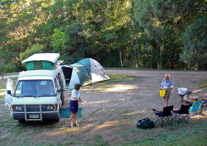 Our campsite at Lake Tinaroo.