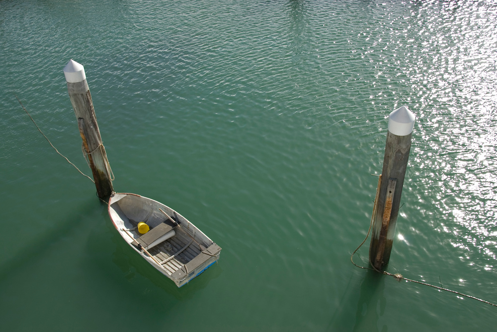 Rowboat in Hervey Bay, Queensland, Australia
