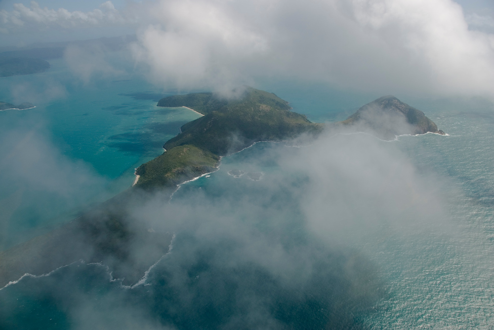 Whitsunday Islands from the air, Queensland, Australia