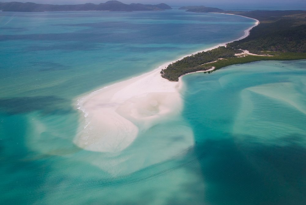 The end of 4 Mile Beach, Whitsunday Islands, Australia