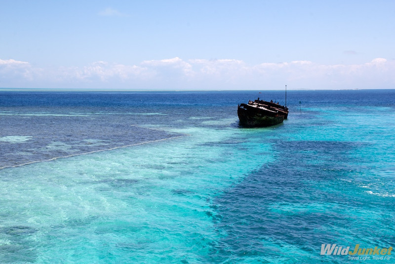 shipwreck at Heron Island